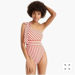 NWT Gorgeous J. Crew One-Shoulder Swimsuit